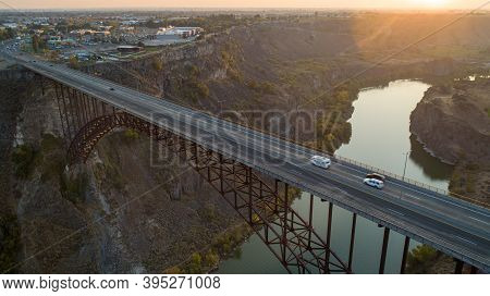 Truss Bridge Leading Into Twin Falls Idaho