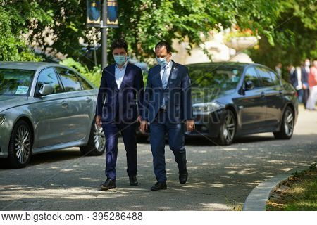 Bucharest, Romania - August 02, 2020: The Pnl Candidate For General Mayor Of Bucharest, Nicusor Dan,