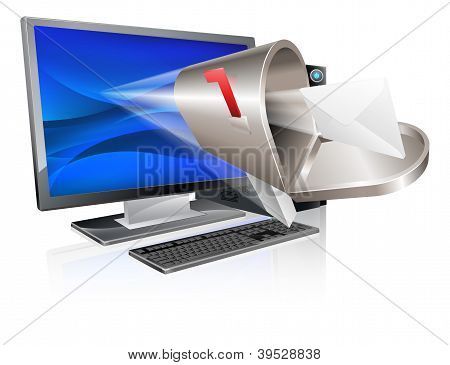 Computer Email Message Concept