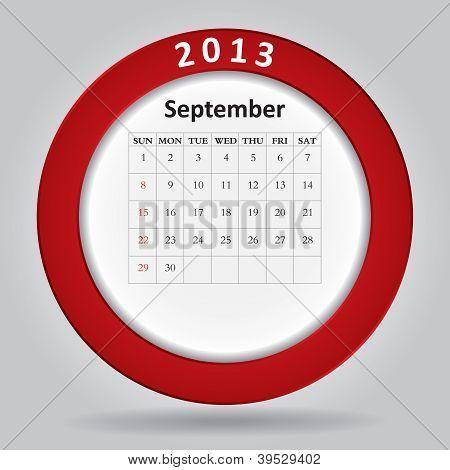 Modern Monthly Calendar