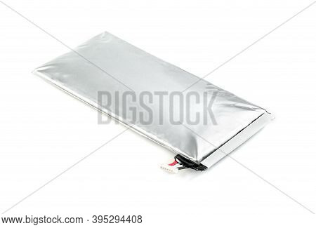 Lithium Ion Polymer Battery For Tablet Pc  Isolated On White Background