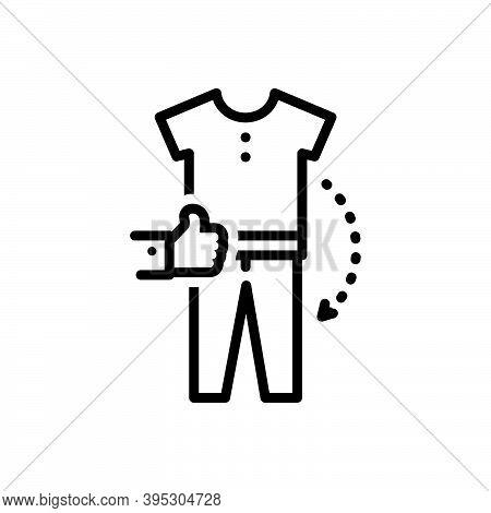 Black Line Icon For Combination Amalgamation Amalgam Mixture Accessories Apparel Garment Clothe Desi