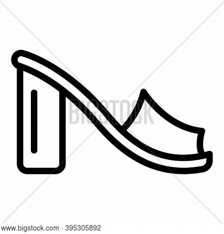 Female Sandals Icon. Outline Female Sandals Vector Icon For Web Design Isolated On White Background