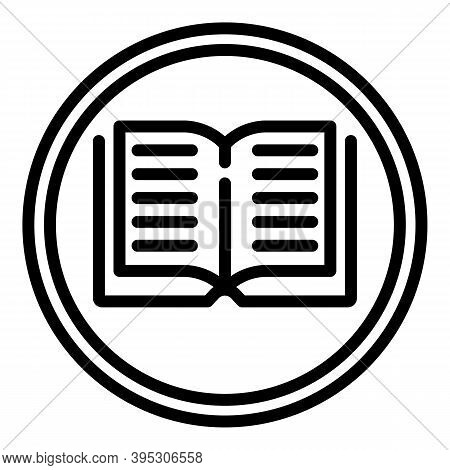 Digital Book Reader Icon. Outline Digital Book Reader Vector Icon For Web Design Isolated On White B