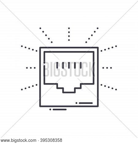 Lan Concept Icon, Linear Isolated Illustration, Thin Line Vector, Web Design Sign, Outline Concept S