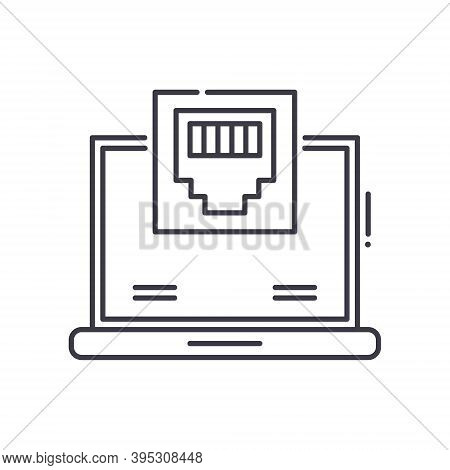 Lan Icon, Linear Isolated Illustration, Thin Line Vector, Web Design Sign, Outline Concept Symbol Wi