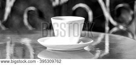 Coffe Cup. Cappuccino And Black Espresso Coffe Cup. Coffee Drink. Close Up Coffe Cups. Closeup. Coff