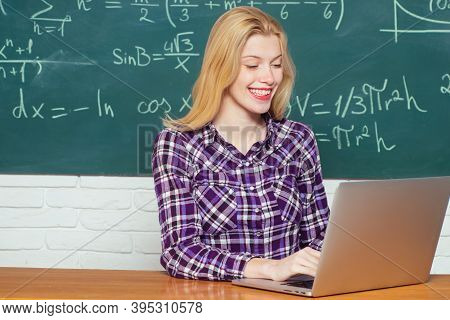 Education Science People Concept. Education Study Abroad. Educational Process. Student Girl Reading