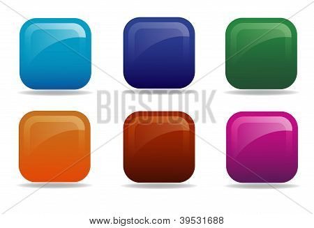 Colorful buttons, icons
