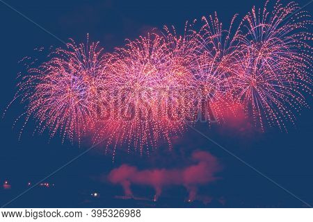Toast To The New Year With Fireworks