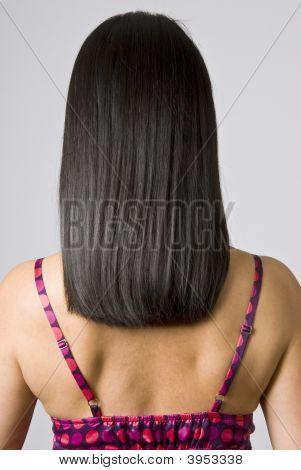 Straight Shiny Black Hair