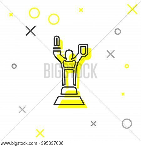 Grey Line Mother Motherland Monument In Kiev, Ukraine Icon Isolated On White Background. Vector