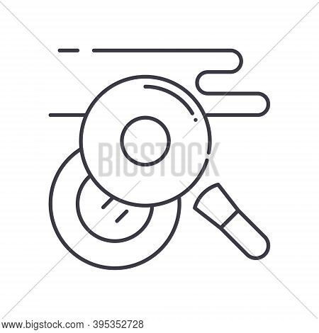 Concealer Icon, Linear Isolated Illustration, Thin Line Vector, Web Design Sign, Outline Concept Sym