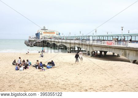 Views Of Bournemouth Beach And Pier In Dorset In The Uk, Taken On The 18th July 2009