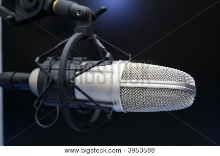 A Radio Mic On Dark Background