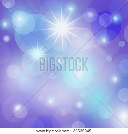 Blue Abstract New Year Background With Sparkling Stars