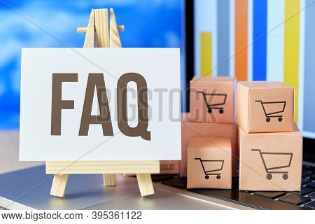 Frequently Asked Questions Faq Concept For Courier And Transport Company.