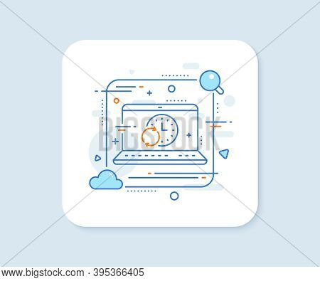 Time Line Icon. Abstract Vector Button. Update Clock Or Deadline Symbol. Time Management Sign. Updat