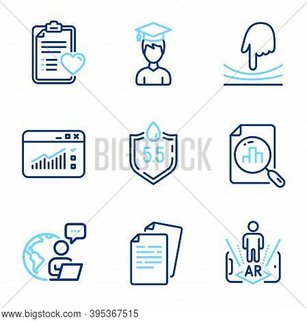 Science Icons Set. Included Icon As Patient History, Elastic, Web Traffic Signs. Student, Ph Neutral