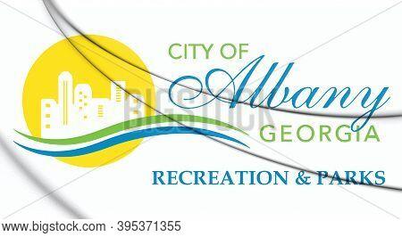 3d Emblem Of Albany (georgia), Usa. 3d Illustration.