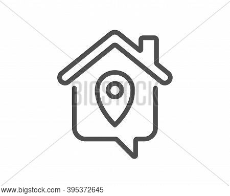 Work At Home Line Icon. Outsource Job Sign. Remote Office Symbol. Quality Design Element. Linear Sty