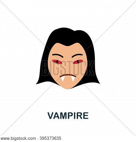 Vampire Icon. Simple Element From Halloween Collection. Creative Vampire Icon For Web Design, Templa