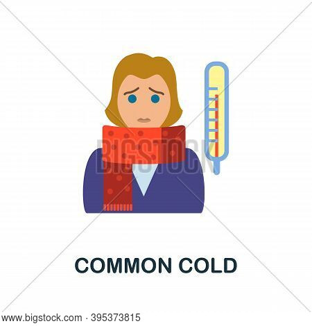 Common Cold Icon. Simple Element From Health Diseases Collection. Creative Common Cold Icon For Web