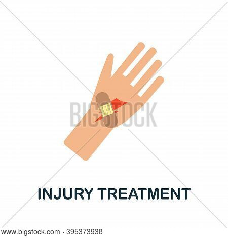 Injury Treatment Icon. Simple Element From Health Diseases Collection. Creative Injury Treatment Ico
