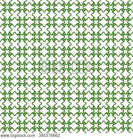 Seamless Guilloche Background Green, Vector Security Grid For Valuable Documents, Seamless Guilloche
