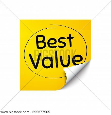 Best Value. Sticker Note With Offer Message. Special Offer Sale Sign. Advertising Discounts Symbol.