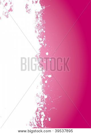 Pink splate background with white element and copy space
