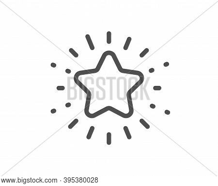 Twinkle Star Line Icon. Best Ranking Sign. Favorite Symbol. Quality Design Element. Linear Style Twi