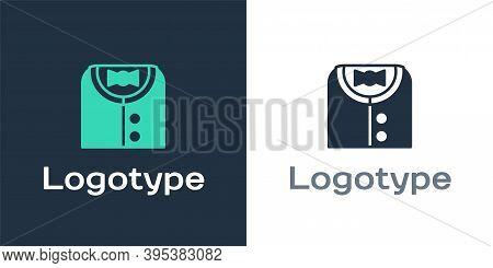 Logotype Suit Icon Isolated On White Background. Tuxedo. Wedding Suits With Necktie. Logo Design Tem