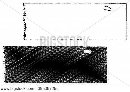 Marshall County, Minnesota (u.s. County, United States Of America, Usa, U.s., Us) Map Vector Illustr