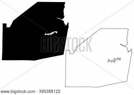 Highland County, Ohio State (u.s. County, United States Of America, Usa, U.s., Us) Map Vector Illust