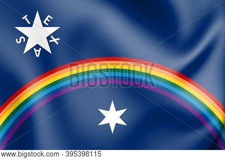 3d Zavala Flag Amendment (texas), Usa. 3d Illustration.