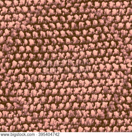 Seamless Wool Texture Pattern. Handmade Design. Pink Knit Fabric. Abstract Holiday Print. Nude Wool
