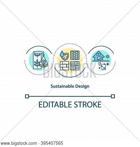 Sustainable Design Concept Icon. Environmental Protection. Green House. Natural Resource. Biophilia