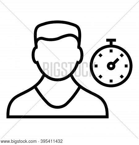 Personal Discipline Icon. Self-development Sign. Line Icon Design.