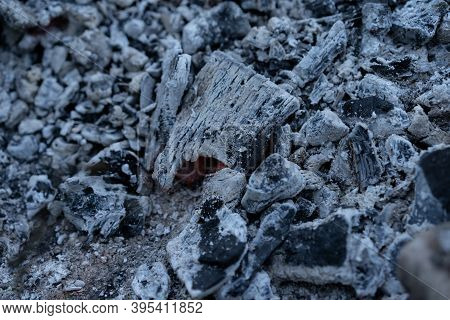 Coals And Ash After A Fire.coals And Ash After A Fire