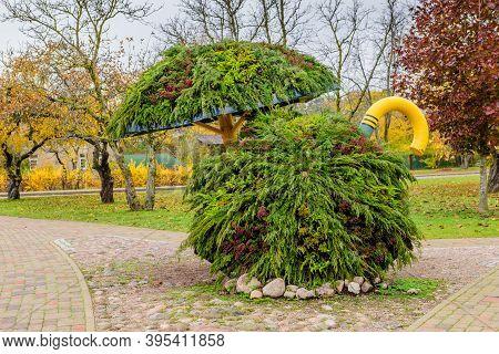 Sigulda, Latvia - October 18, 2019: Sightseeing Of Latvia. Cane Park Is A Popular Tourist Attraction