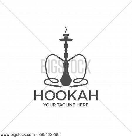 Hookah Relax Label, Badge. Vintage Shisha Logo. Lounge Cafe Emblem. Arabian Bar Or House, Shop. Isol