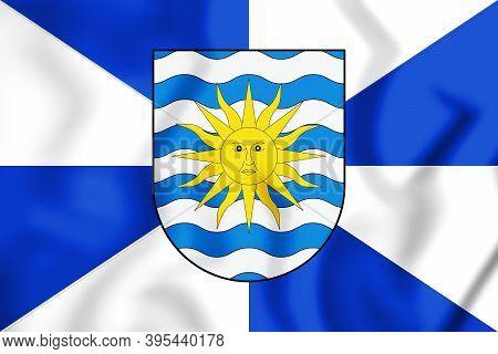 3d Flag Of Balneario Camboriu (santa Catarina), Brazil. 3d Illustration.