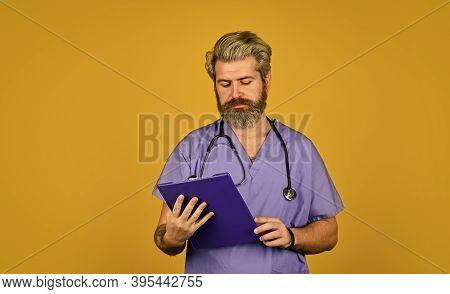 Coronavirus Concept. Man Doctor. Coronavirus Outbreak. Avoid Catching Spreading Germs. Symptoms Coro