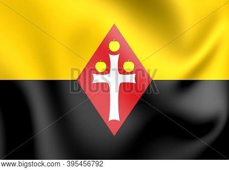 3d Flag Of Best (north Brabant), Netherlands. 3d Illustration.