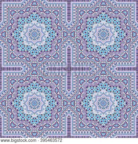 Cute Moroccan Zellige Tile Seamless Rapport. Geometric Texture Vector Motif. Plaid Print Design. Tra