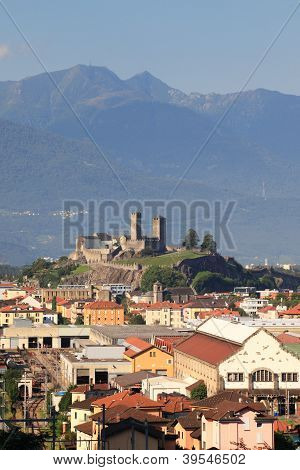 Ancient Castle On A Hill In The City Center
