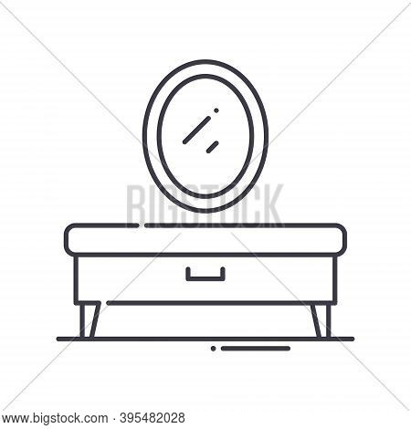 Vanity Icon, Linear Isolated Illustration, Thin Line Vector, Web Design Sign, Outline Concept Symbol