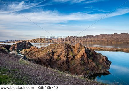 A Breathtaking View Of The River In Parker Dam Road, Arizona