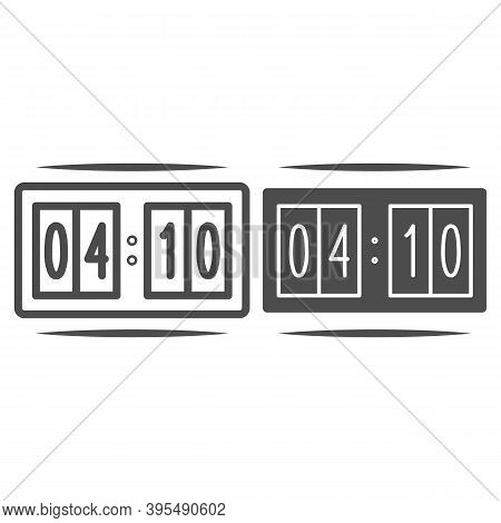 Scoreboard For Hockey Line And Solid Icon, Winter Sport Concept, Scoreboard For Sport Games Sign On